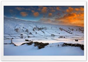 England Sunset Fields Ultra HD Wallpaper for 4K UHD Widescreen desktop, tablet & smartphone