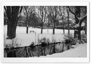 England Winter Black And White HD Wide Wallpaper for Widescreen