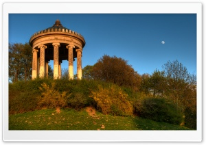 English Garden Rotunda, Munich, Germany HD Wide Wallpaper for Widescreen