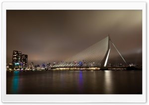 Erasmus Bridge, Rotterdam, The Netherlands HD Wide Wallpaper for Widescreen