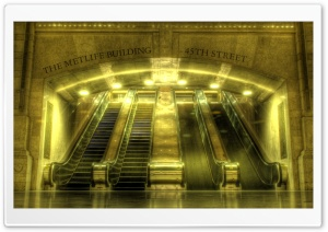 Escalators Hdr HD Wide Wallpaper for Widescreen