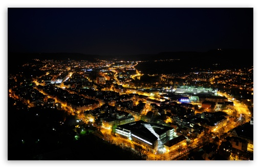 European City At Night HD wallpaper for Wide 16:10 5:3 Widescreen WHXGA WQXGA WUXGA WXGA WGA ; HD 16:9 High Definition WQHD QWXGA 1080p 900p 720p QHD nHD ; Mobile 5:3 16:9 - WGA WQHD QWXGA 1080p 900p 720p QHD nHD ;