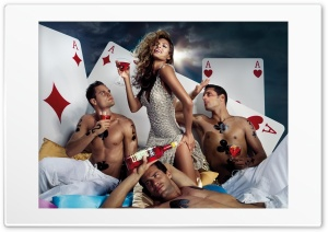 Eva Mendes Poker HD Wide Wallpaper for Widescreen