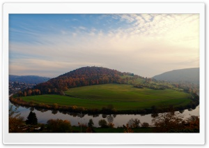 Evening At The Neckar HD Wide Wallpaper for Widescreen