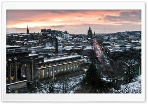 Evening In Edinburgh HD Wide Wallpaper for Widescreen