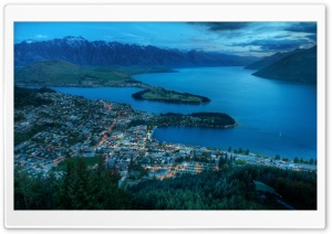 Evening Over Queenstown HD Wide Wallpaper for 4K UHD Widescreen desktop & smartphone