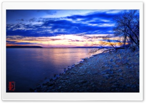 Evening Shoreline HD Wide Wallpaper for Widescreen