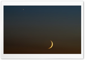 Evening Star and Moon HD Wide Wallpaper for Widescreen