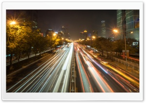 Evening Traffic in Beijing HD Wide Wallpaper for Widescreen