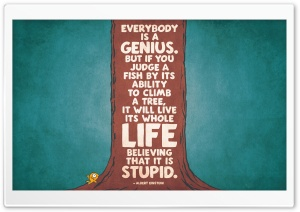 Everybody is a Genius HD Wide Wallpaper for 4K UHD Widescreen desktop & smartphone