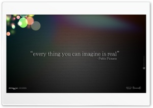 Everything You Can Imagine Is Real HD Wide Wallpaper for Widescreen