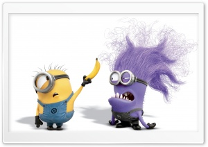 Evil Purple Minion HD Wide Wallpaper for Widescreen