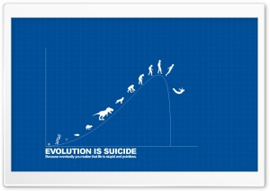 Evolution is Suicide Ultra HD Wallpaper for 4K UHD Widescreen desktop, tablet & smartphone