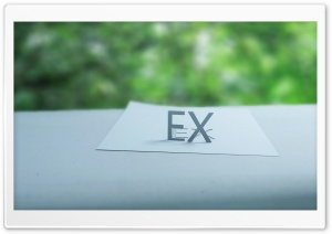 EX Paper in the Window HD Wide Wallpaper for Widescreen