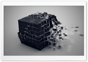 Exploding Cube HD Wide Wallpaper for Widescreen