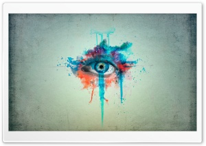 Eye Minimalistic Painting HD Wide Wallpaper for Widescreen