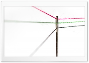 Eye of a Needle, Thread, Macro Ultra HD Wallpaper for 4K UHD Widescreen desktop, tablet & smartphone