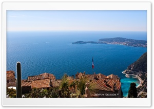 Eze, French riviera - France HD Wide Wallpaper for 4K UHD Widescreen desktop & smartphone