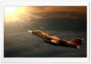 F104 Starfighter Jet HD Wide Wallpaper for 4K UHD Widescreen desktop & smartphone