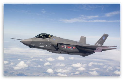 F35 Stealth HD wallpaper for Wide 16:10 Widescreen WHXGA WQXGA WUXGA WXGA ; Standard 5:4 Fullscreen QSXGA SXGA ; Mobile 5:4 - QSXGA SXGA ;