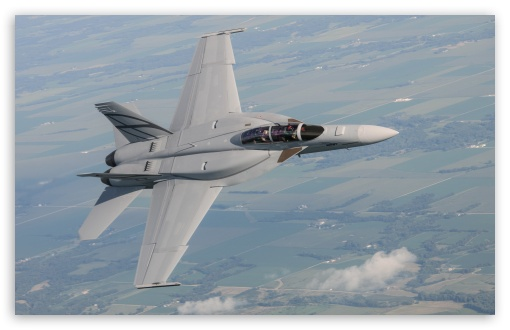 F 18 Advanced Super Hornet Ultra Hd Desktop Background