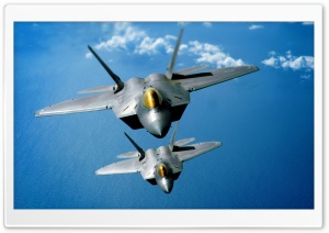 F-22 Raptors HD Wide Wallpaper for 4K UHD Widescreen desktop & smartphone