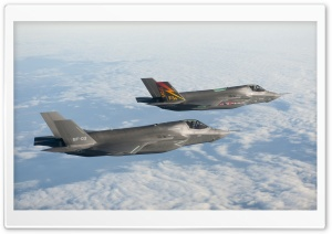 F-35 Lightning II Fighter Jet HD Wide Wallpaper for Widescreen