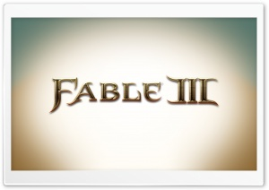 Fable III Logo HD Wide Wallpaper for Widescreen