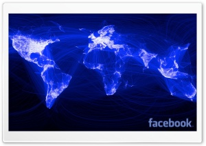 Facebook World Network HD Wide Wallpaper for Widescreen