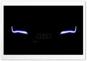 Faded Audi-Xenon Blue HD Wide Wallpaper for Widescreen