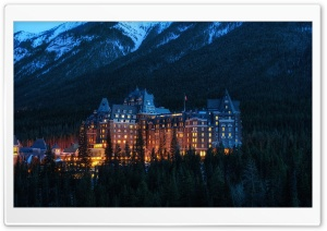 Fairmont Banff Springs Hotel Haunted HD Wide Wallpaper for 4K UHD Widescreen desktop & smartphone