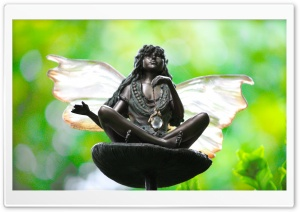 Fairy Statue HD Wide Wallpaper for Widescreen