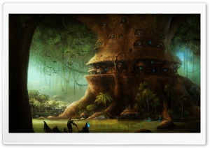 Fairy Tree HD Wide Wallpaper for Widescreen