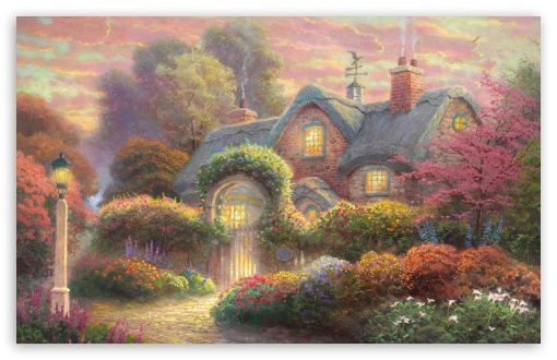 Fairytale Cottage Painting HD wallpaper for Wide 16:10 5:3 Widescreen WHXGA WQXGA WUXGA WXGA WGA ; HD 16:9 High Definition WQHD QWXGA 1080p 900p 720p QHD nHD ; Standard 4:3 5:4 3:2 Fullscreen UXGA XGA SVGA QSXGA SXGA DVGA HVGA HQVGA devices ( Apple PowerBook G4 iPhone 4 3G 3GS iPod Touch ) ; Tablet 1:1 ; iPad 1/2/Mini ; Mobile 4:3 5:3 3:2 16:9 5:4 - UXGA XGA SVGA WGA DVGA HVGA HQVGA devices ( Apple PowerBook G4 iPhone 4 3G 3GS iPod Touch ) WQHD QWXGA 1080p 900p 720p QHD nHD QSXGA SXGA ;