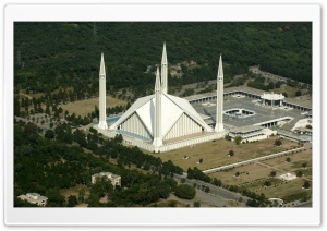 Faisal Masjid Islamabad Pakistan HD Wide Wallpaper for Widescreen