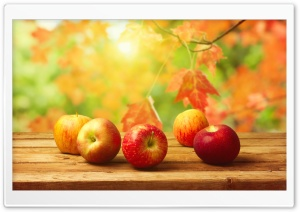 Fall Apples HD Wide Wallpaper for Widescreen