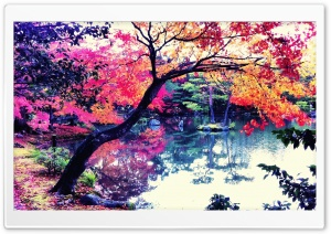 Fall In Japan HD Wide Wallpaper for Widescreen