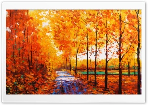 Fall Painting HD Wide Wallpaper for Widescreen