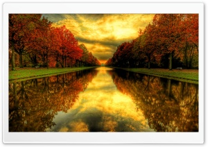 Fall Reflections HD Wide Wallpaper for Widescreen