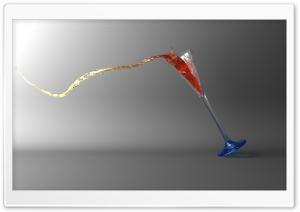 Falling Glass 3D HD Wide Wallpaper for Widescreen