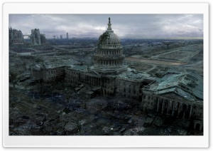 Fallout 3 Capitol Building HD Wide Wallpaper for 4K UHD Widescreen desktop & smartphone
