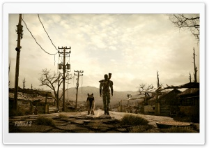 Fallout 3 Man And His Dog HD Wide Wallpaper for Widescreen