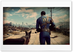 Fallout 4 A Man and his Dog HD Wide Wallpaper for Widescreen