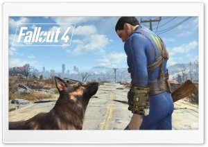 Fallout 4 Dogmeat HD Wide Wallpaper for Widescreen