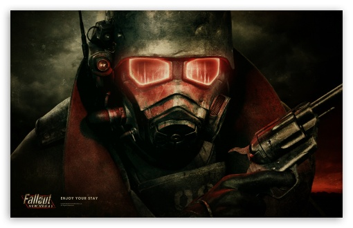 Fallout New Vegas HD wallpaper for Wide 16:10 5:3 Widescreen WHXGA WQXGA WUXGA WXGA WGA ; HD 16:9 High Definition WQHD QWXGA 1080p 900p 720p QHD nHD ; Standard 4:3 5:4 3:2 Fullscreen UXGA XGA SVGA QSXGA SXGA DVGA HVGA HQVGA devices ( Apple PowerBook G4 iPhone 4 3G 3GS iPod Touch ) ; iPad 1/2/Mini ; Mobile 4:3 5:3 3:2 16:9 5:4 - UXGA XGA SVGA WGA DVGA HVGA HQVGA devices ( Apple PowerBook G4 iPhone 4 3G 3GS iPod Touch ) WQHD QWXGA 1080p 900p 720p QHD nHD QSXGA SXGA ;