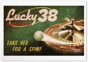 Fallout New Vegas - Lucky 38 Chip HD Wide Wallpaper for Widescreen