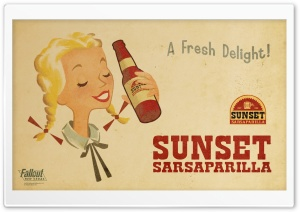 Fallout New Vegas - Sunset Sarsaparilla HD Wide Wallpaper for Widescreen