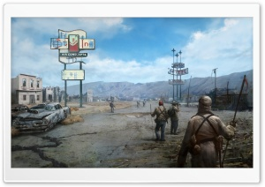 Fallout New Vegas Concept Art HD Wide Wallpaper for 4K UHD Widescreen desktop & smartphone