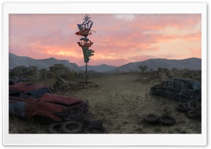 Fallout New Vegas Concept Art - Junkyard HD Wide Wallpaper for Widescreen