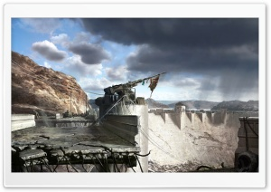 Fallout New Vegas Hoover Dam Concept Art HD Wide Wallpaper for Widescreen